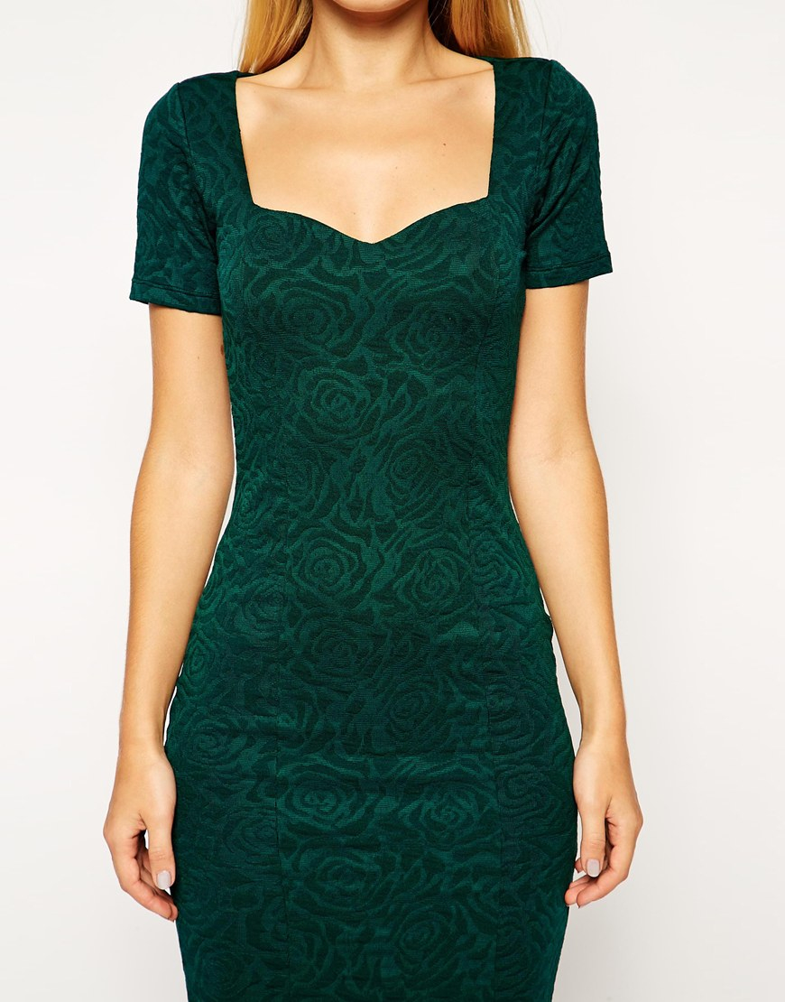 asos-green-midi-bodycon-dress-with-sweetheart-neck-in-floral-texture-product-1-23984586-0-111385276-normal